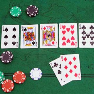 Une Quinte sur la table en Limit Hold'em