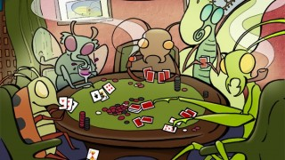 Bugs playing poker