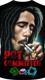 Bob Marley pot commited