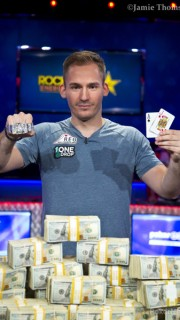 Justin Bonomo vainqueur du Big One for One Drop des WSOP 2018.