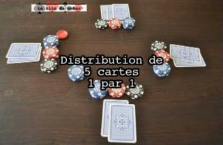 distribution au poker ferme