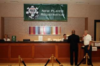 Guichet d'inscription aux tournois des World Series of Poker (WSOP)