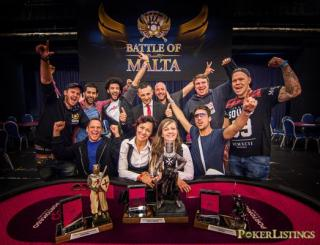 Table finale Battle of Malta 2017