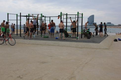 open air gym barcelone