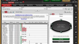 PokerStars : Le Lobby