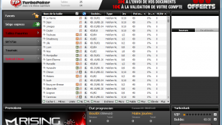 Turbo Poker : Le Lobby