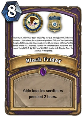 Carte Hearthstone Black friday