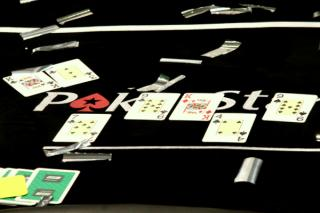 Le tableau final d'une main de poker