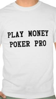 Tee-shirt humoristique Play Money Poker Pro