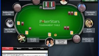 Capture d'écran sur PokerStars