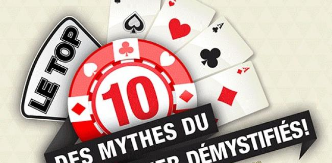 10 Mythes du Poker démystifiés